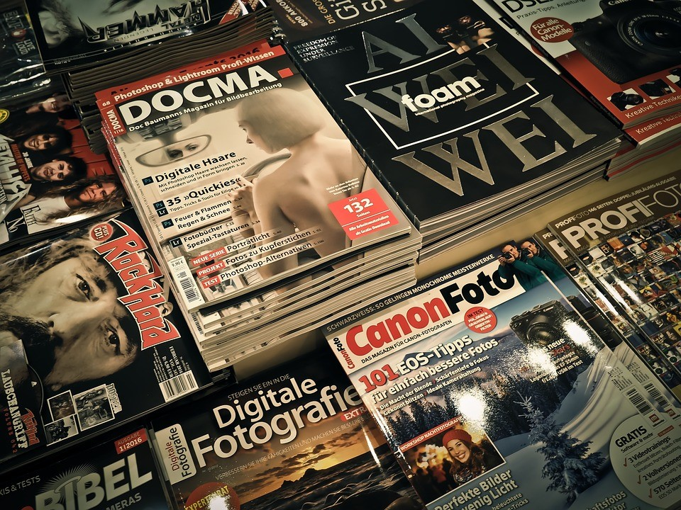 Hard copy magazines